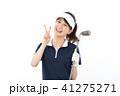 若い女性 ゴルフ 41275271