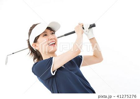 若い女性 ゴルフ 41275276