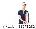 テニス 女性 人物の写真 41275282