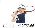 若い女性 テニス 41275366