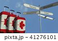 カナダ カナディアン スーツケースのイラスト 41276101