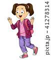子供 少女 振るのイラスト 41278314