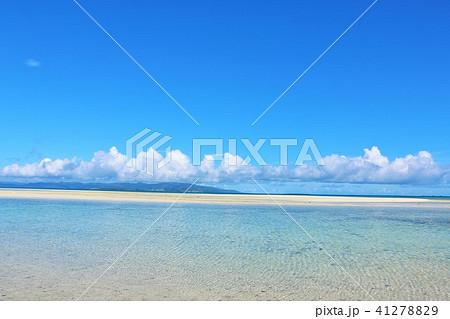 沖縄 竹富島の青い海 41278829
