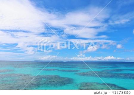 沖縄 青空と青い海 41278830