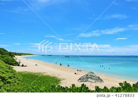 沖縄 波照間島 青空のニシ浜 41278833