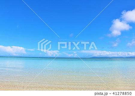 沖縄 青空と青い海 41278850