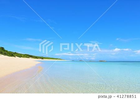 沖縄 青空と青い海 41278851