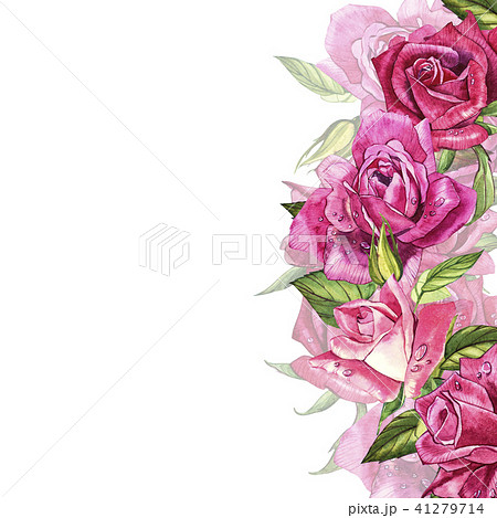 vintage roses template watercolor illustration design elements for