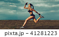 Young sports woman running 41281223