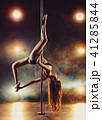 Pole dancing woman 41285844