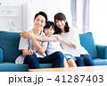 家族 親子 リビングの写真 41287403