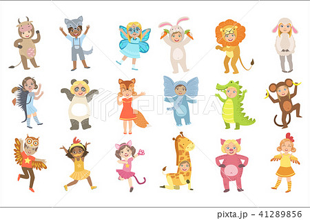 Kids In Animal Costumes Set 41289856