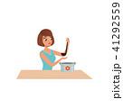 女性 調理 鍋のイラスト 41292559