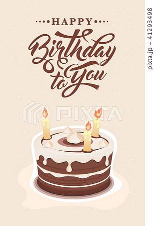 invitation card with cakeのイラスト素材 41293498 pixta