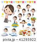 女性 食事 食のイラスト 41293922