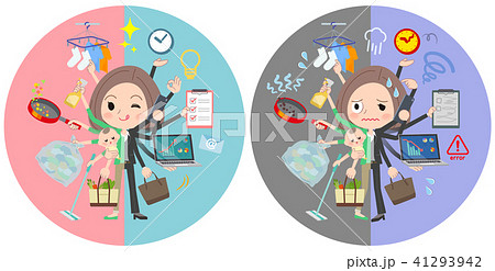 Black jacket business woman_mulch task switch 41293942