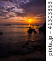 竜宮城と朝日 城崎温泉近くの美しい海岸 日和山海岸 後ヶ島 41303353
