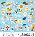 夏 アイコン セットのイラスト 41306814