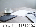 Blank office desk with coffee cup 41310108