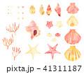 貝 貝殻 二枚貝のイラスト 41311187