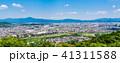 嵐山から眺める京都の町並みと東山 41311588