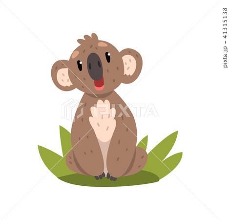 Cute koala bear sitting on the grass, Australian marsupial animal character vector Illustrations on 41315138