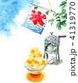 かき氷 氷菓 水彩のイラスト 41319770