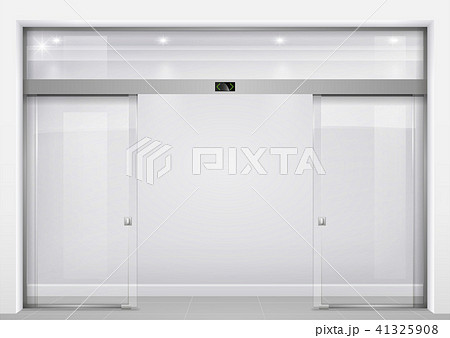 automatic glass doorsのイラスト素材 41325908 pixta