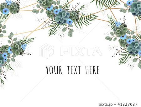 greeting postcard wedding invite template のイラスト素材 41327037