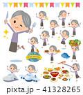 女性 シニア 食事のイラスト 41328265