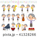Purple clothes grandmother_classic music 41328266