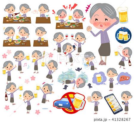 Purple clothes grandmother_alcohol 41328267