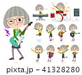 green shirt old women_pop music 41328280