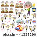 女性 人物 おばあさんのイラスト 41328290
