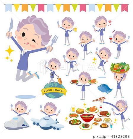 blue one piece old women_food festival 41328298