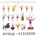 purple shirt old women White_classic music 41328308
