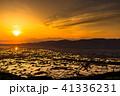 《富山県》水鏡の水田・砺波平野の朝景《医王山より》 41336231