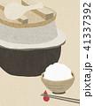 背景-和紙-羽釜-白飯 41337392
