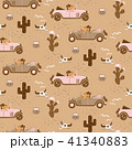 Retro seamless pattern with retro car race in sand desert. 41340883