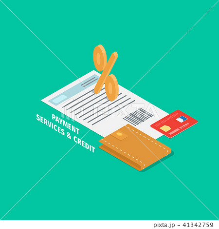 Payment and Credit Services Vector Concept 41342759