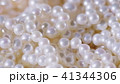 Close-up shot: Jewelry background. Necklace of real choice white pearls 41344306