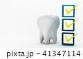 歯科衛生チェックのイラストCG 41347114
