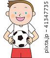 少年サッカー サッカー ベクターのイラスト 41347735