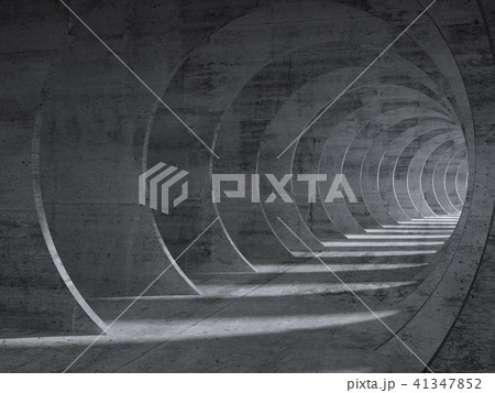 Concrete tunnel interior with perspective effect 41347852
