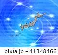 日本地図 白地図 デジタルのイラスト 41348466