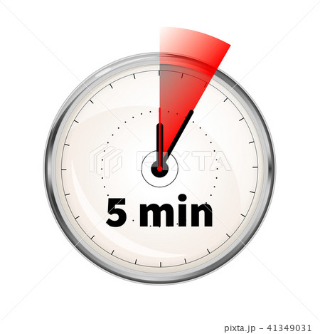 realistic clock face with five minutes timerのイラスト素材 41349031