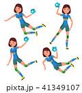 スポーツ ハンドボール 選手のイラスト 41349107