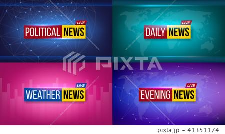 creative vector illustration of breaking news background world