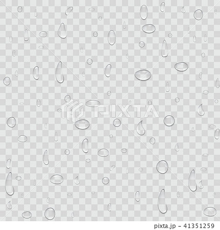 Creative vector illustration of pure clear water rain drops isolated on transparent background 41351259