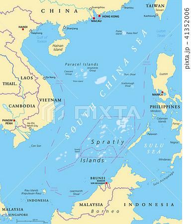 South China Sea Islands, political map 41352006
